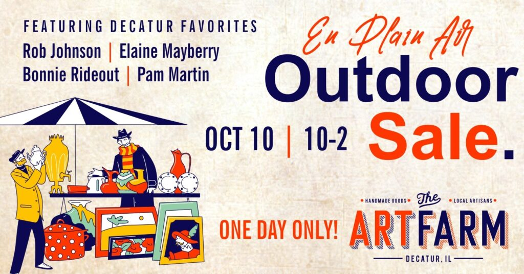 Oct. 10 – En Plain Air – An Outdoor Art Market