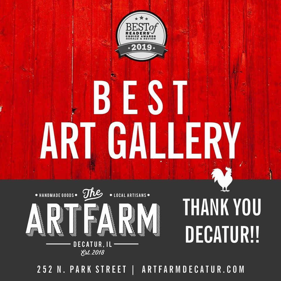Voted Best Art Gallery in Decatur in Herald