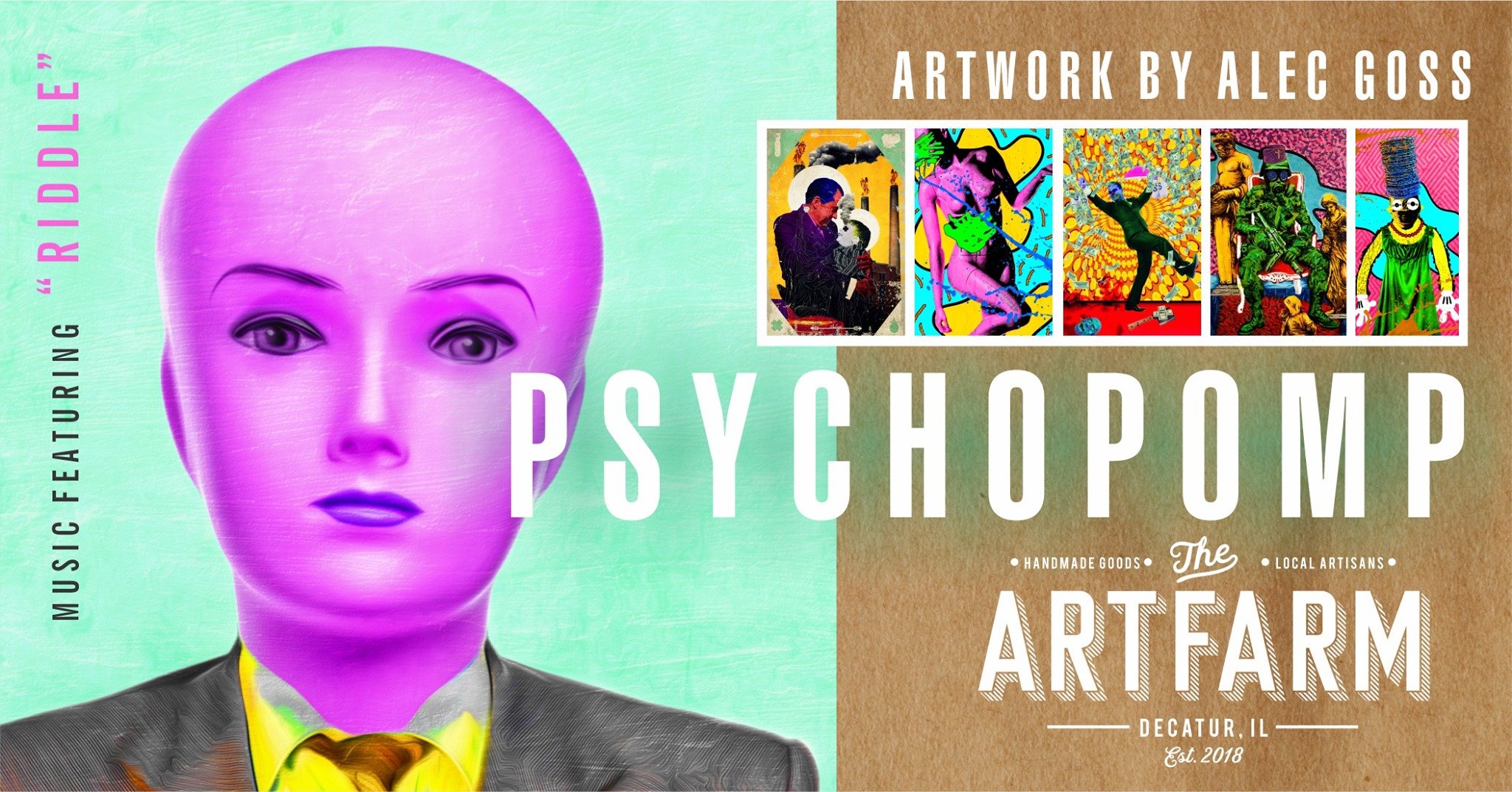 The ArtFarm - Psychopomp - Artwork by Alec Goss - September 2019