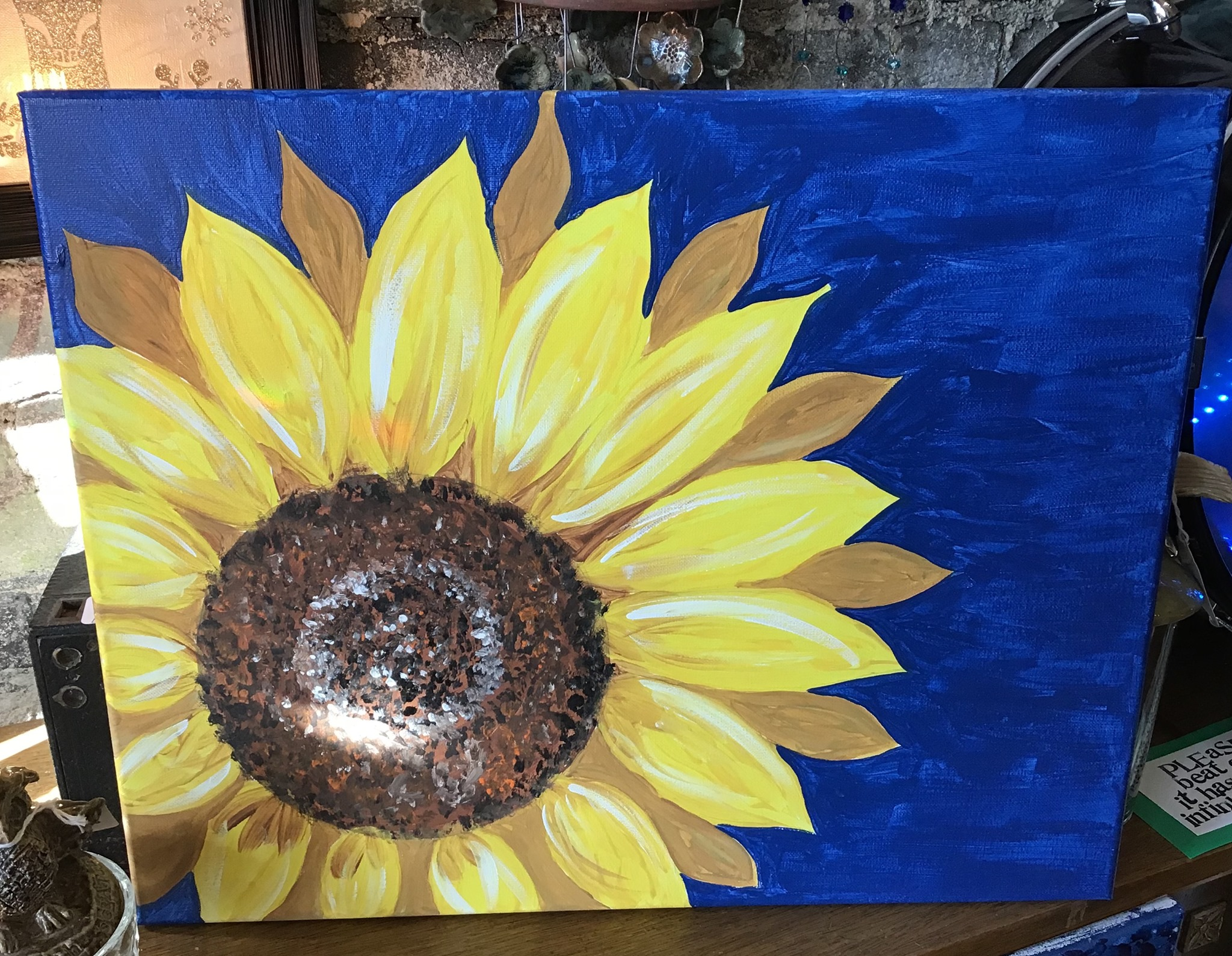 Feb. 11 – Sunflower on Canvas